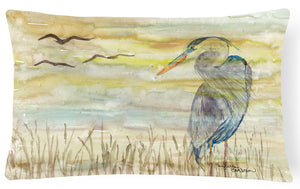 Buy this Blue Heron Yellow Sky Canvas Fabric Decorative Pillow SC2020PW1216
