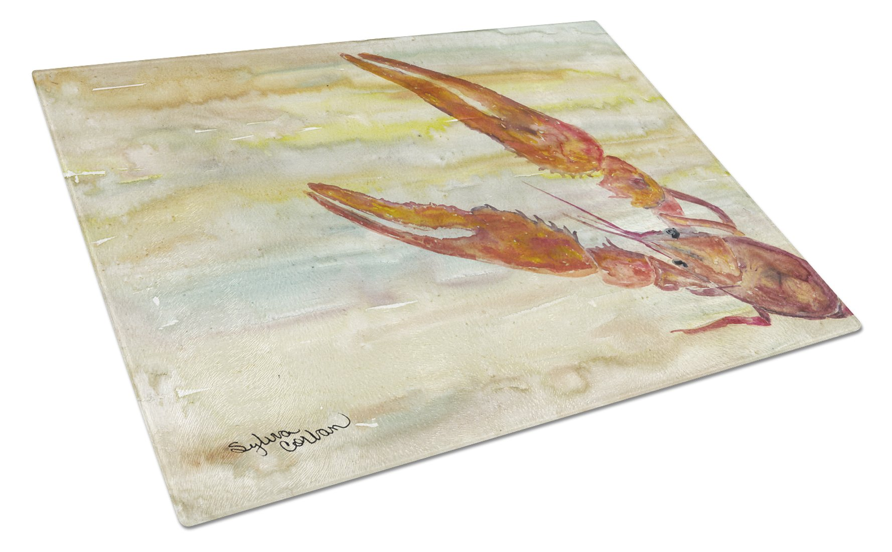 Buy this Crawfish Yellow Sky Glass Cutting Board Large SC2021LCB