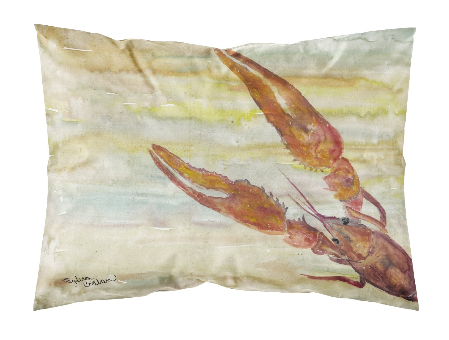 Buy this Crawfish Yellow Sky Fabric Standard Pillowcase SC2021PILLOWCASE