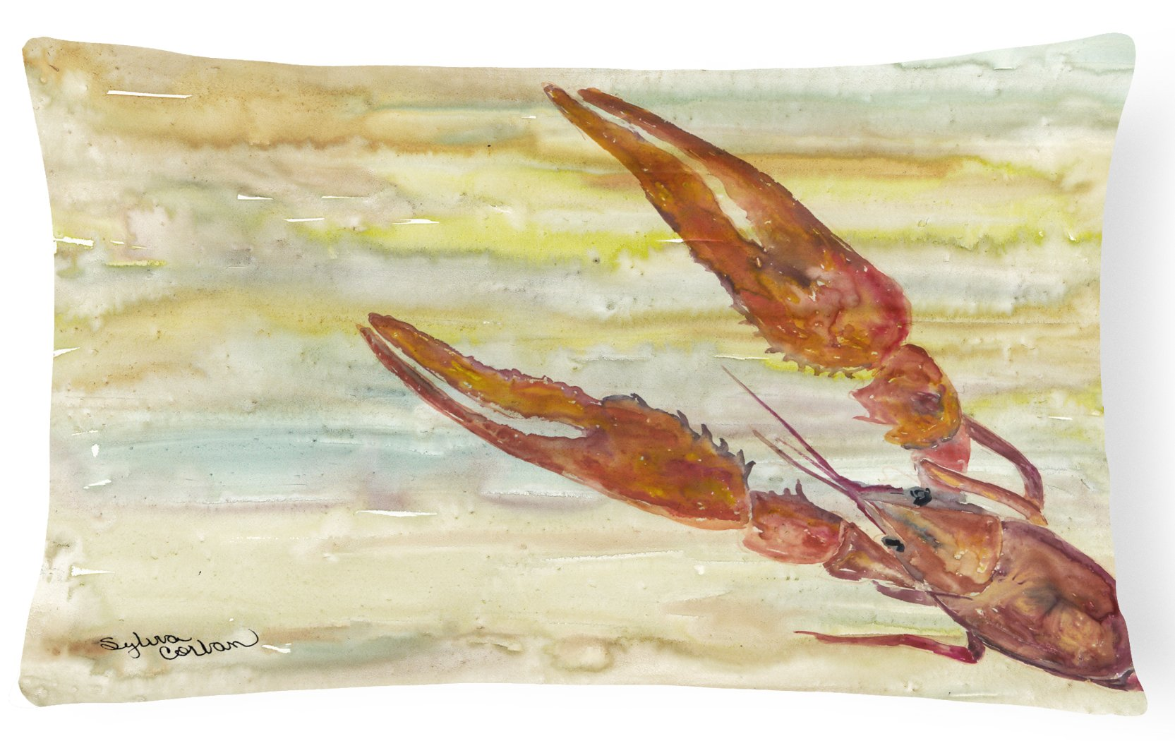 Buy this Crawfish Yellow Sky Canvas Fabric Decorative Pillow SC2021PW1216