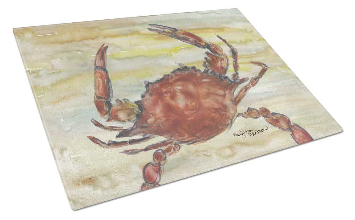 Buy this Cooked Crab Yellow Sky Glass Cutting Board Large SC2022LCB