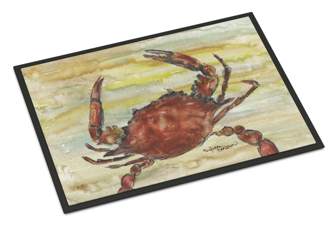 Buy this Cooked Crab Yellow Sky Indoor or Outdoor Mat 18x27 SC2022MAT