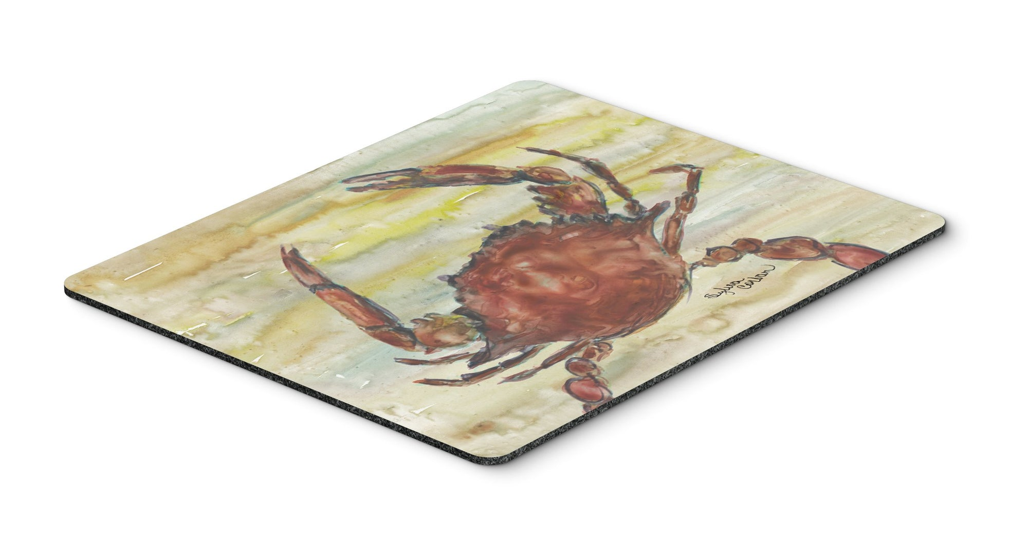 Cooked Crab Yellow Sky Mouse Pad, Hot Pad or Trivet SC2022MP by Caroline's Treasures