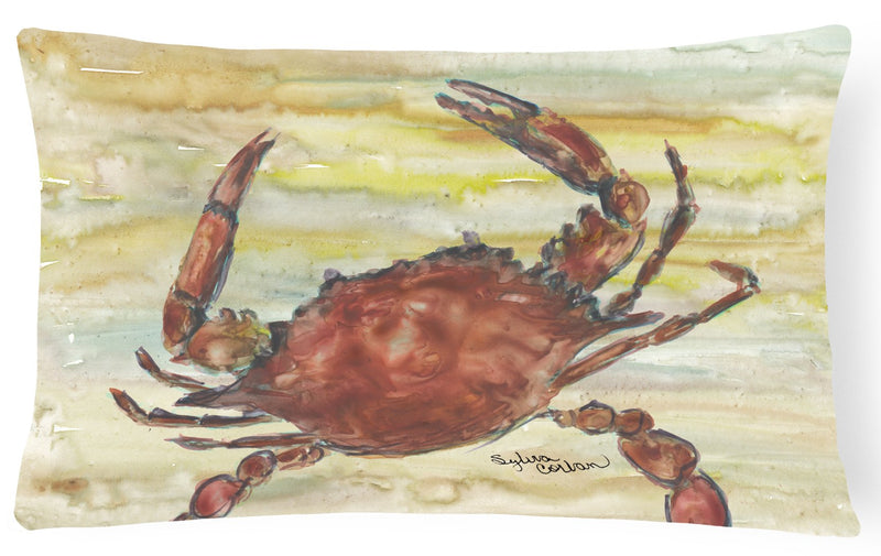Buy this Cooked Crab Yellow Sky Canvas Fabric Decorative Pillow SC2022PW1216
