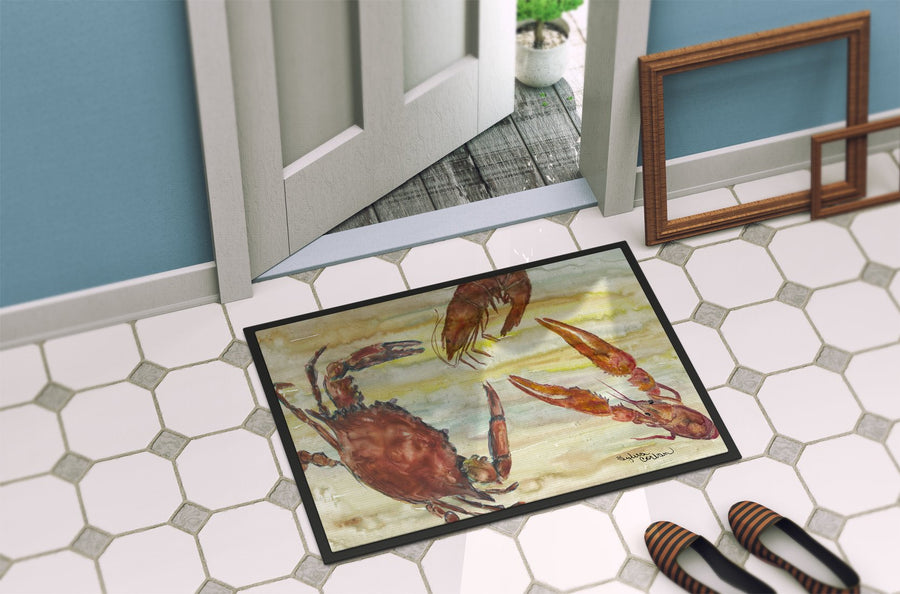 Buy this Crab, Shrimp, Oyster Yellow Sky Indoor or Outdoor Mat 24x36 SC2023JMAT
