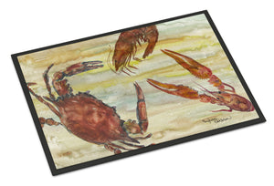 Buy this Crab, Shrimp, Oyster Yellow Sky Indoor or Outdoor Mat 18x27 SC2023MAT