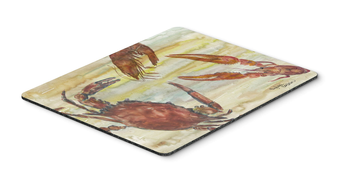 Buy this Crab, Shrimp, Oyster Yellow Sky Mouse Pad, Hot Pad or Trivet SC2023MP