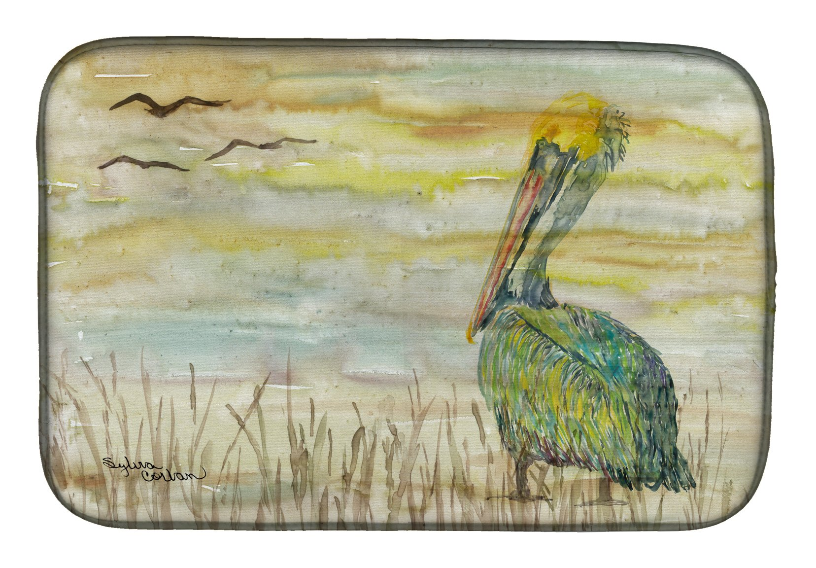 Buy this Pelican Yellow Sky Dish Drying Mat SC2024DDM