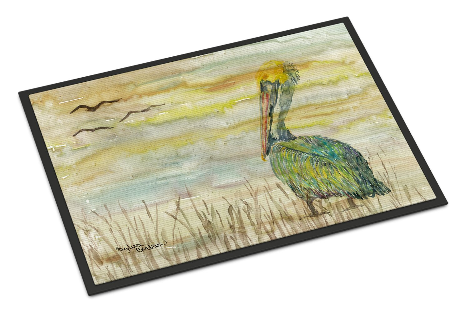 Pelican Yellow Sky Indoor or Outdoor Mat 24x36 SC2024JMAT by Caroline's Treasures