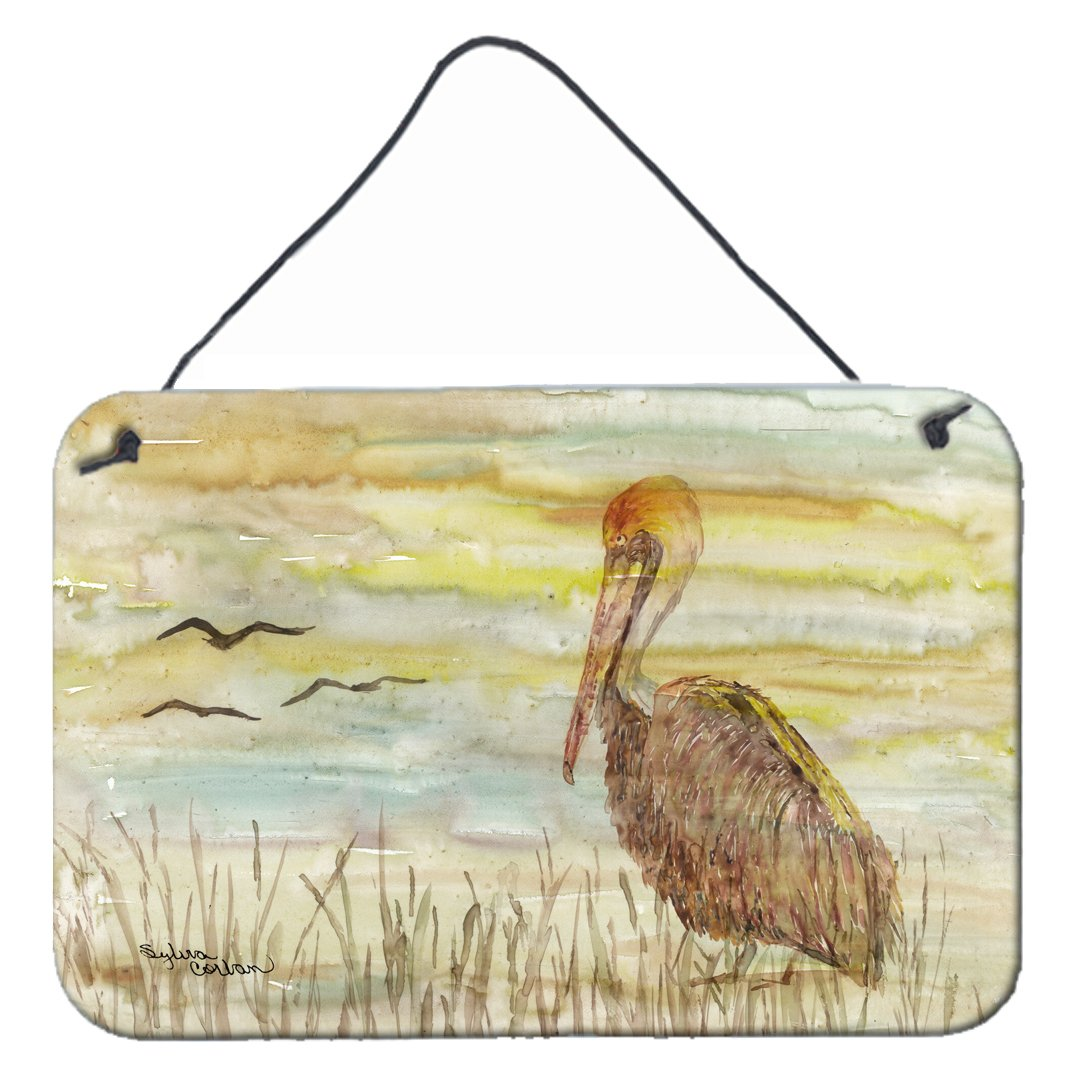 Buy this Brown Pelican Yellow Sky Wall or Door Hanging Prints SC2025DS812