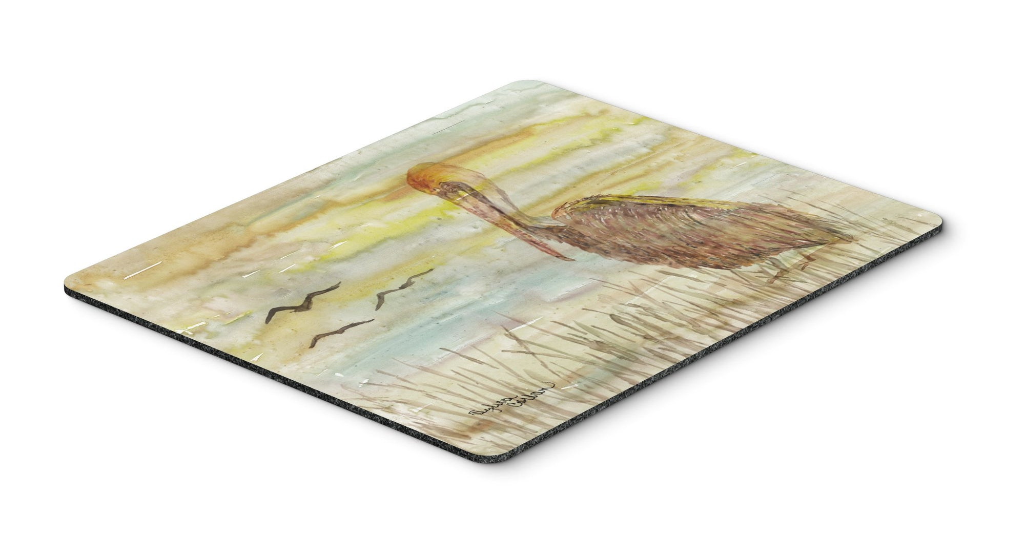Buy this Brown Pelican Yellow Sky Mouse Pad, Hot Pad or Trivet SC2025MP