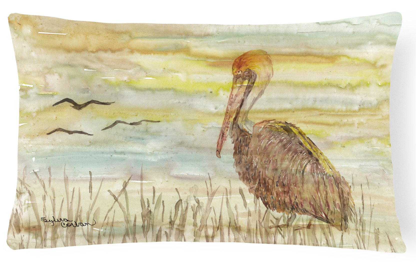 Buy this Brown Pelican Yellow Sky Canvas Fabric Decorative Pillow SC2025PW1216