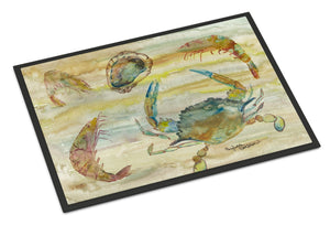 Buy this Crab, Shrimp, Oyster Yellow Sky Indoor or Outdoor Mat 24x36 SC2026JMAT