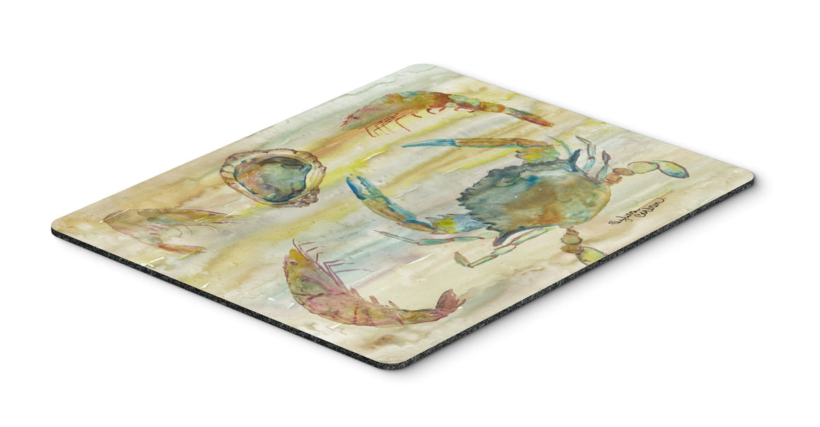 Buy this Crab, Shrimp, Oyster Yellow Sky Mouse Pad, Hot Pad or Trivet SC2026MP