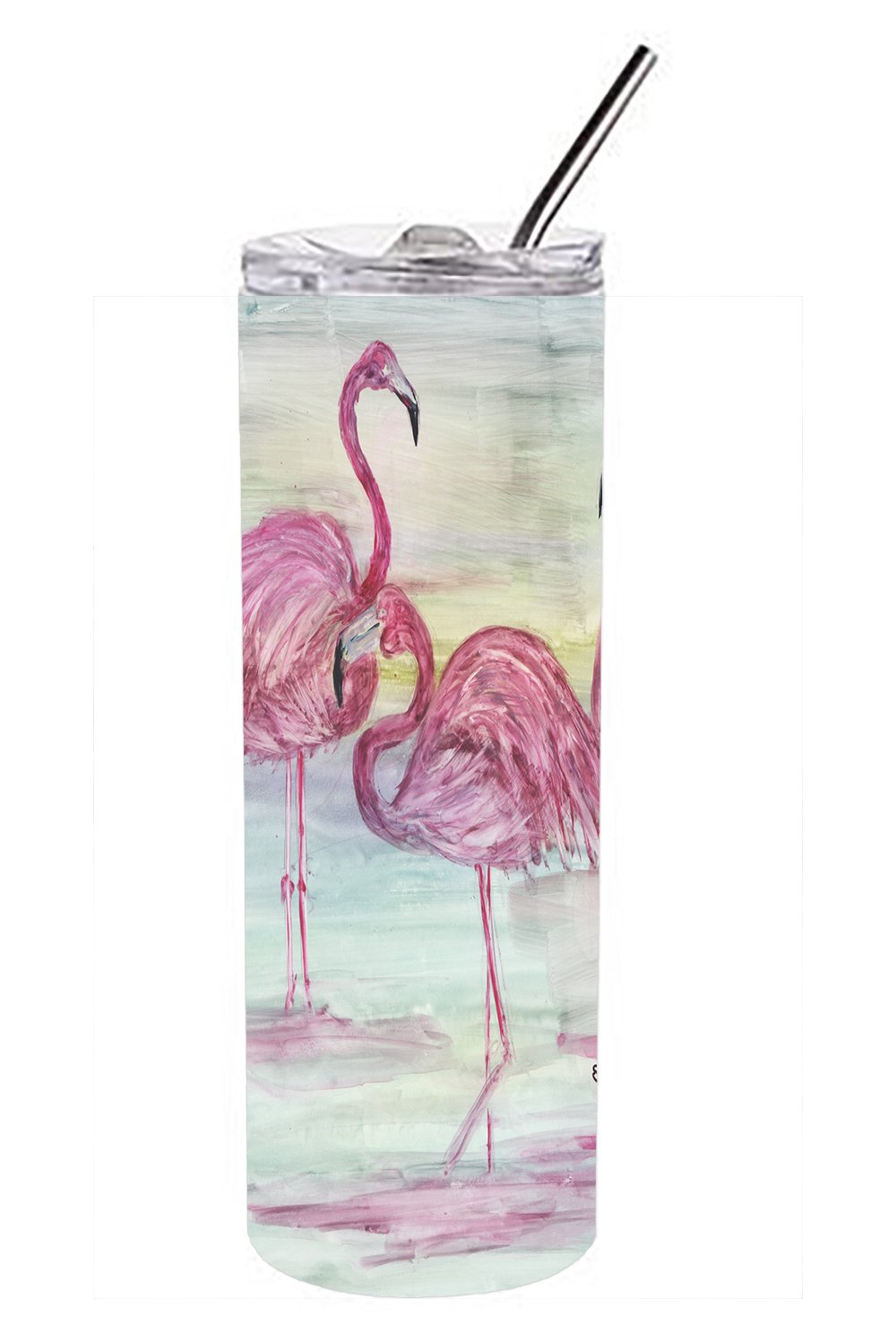 Buy this Flamingos Double Walled Stainless Steel 20 oz Skinny Tumbler SC2034TBL20