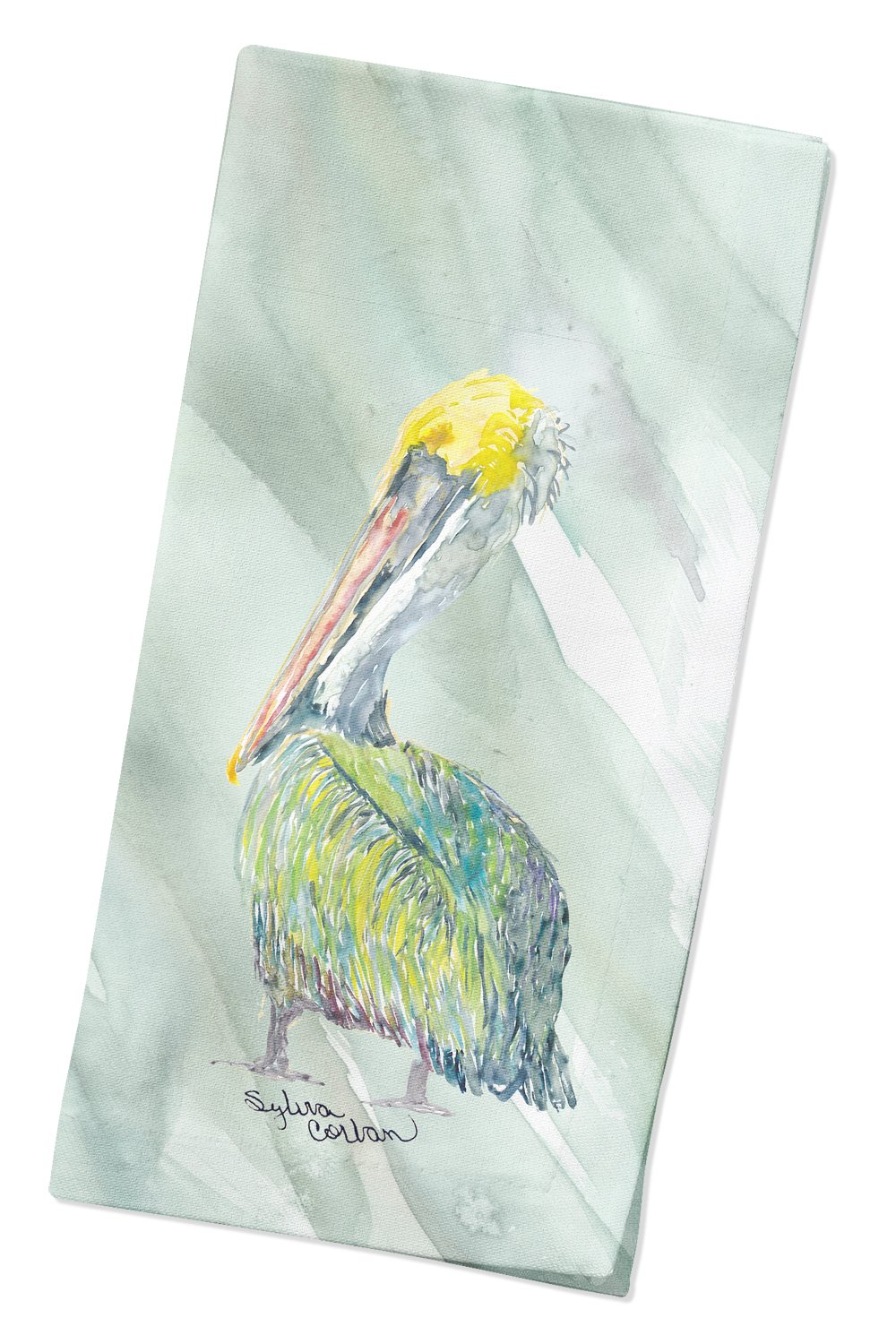 Pelican on Sage Green Napkin SC2064NAP by Caroline's Treasures
