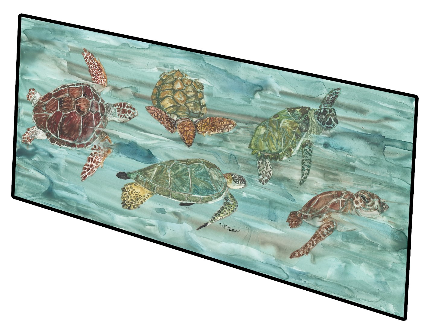Loggerhead Turtles at Sea Indoor or Outdoor Runner Mat 28x58 by Caroline's Treasures