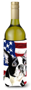 Buy this USA American Flag with Boston Terrier Wine Bottle Beverage Insulator Beverage Insulator Hugger
