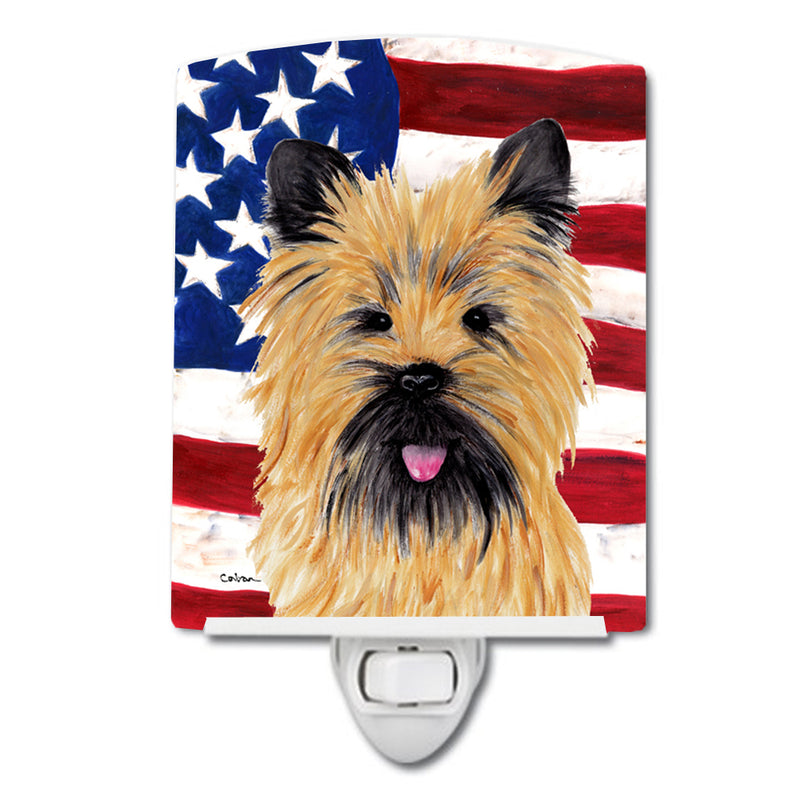 Buy this USA American Flag with Cairn Terrier Ceramic Night Light SC9017CNL