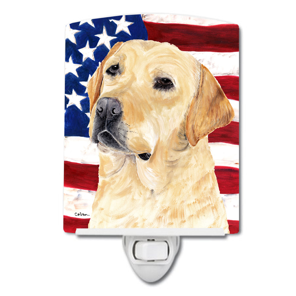 Buy this USA American Flag with Labrador Ceramic Night Light SC9018CNL
