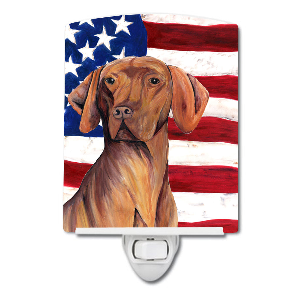 Buy this USA American Flag with Vizsla Ceramic Night Light SC9022CNL