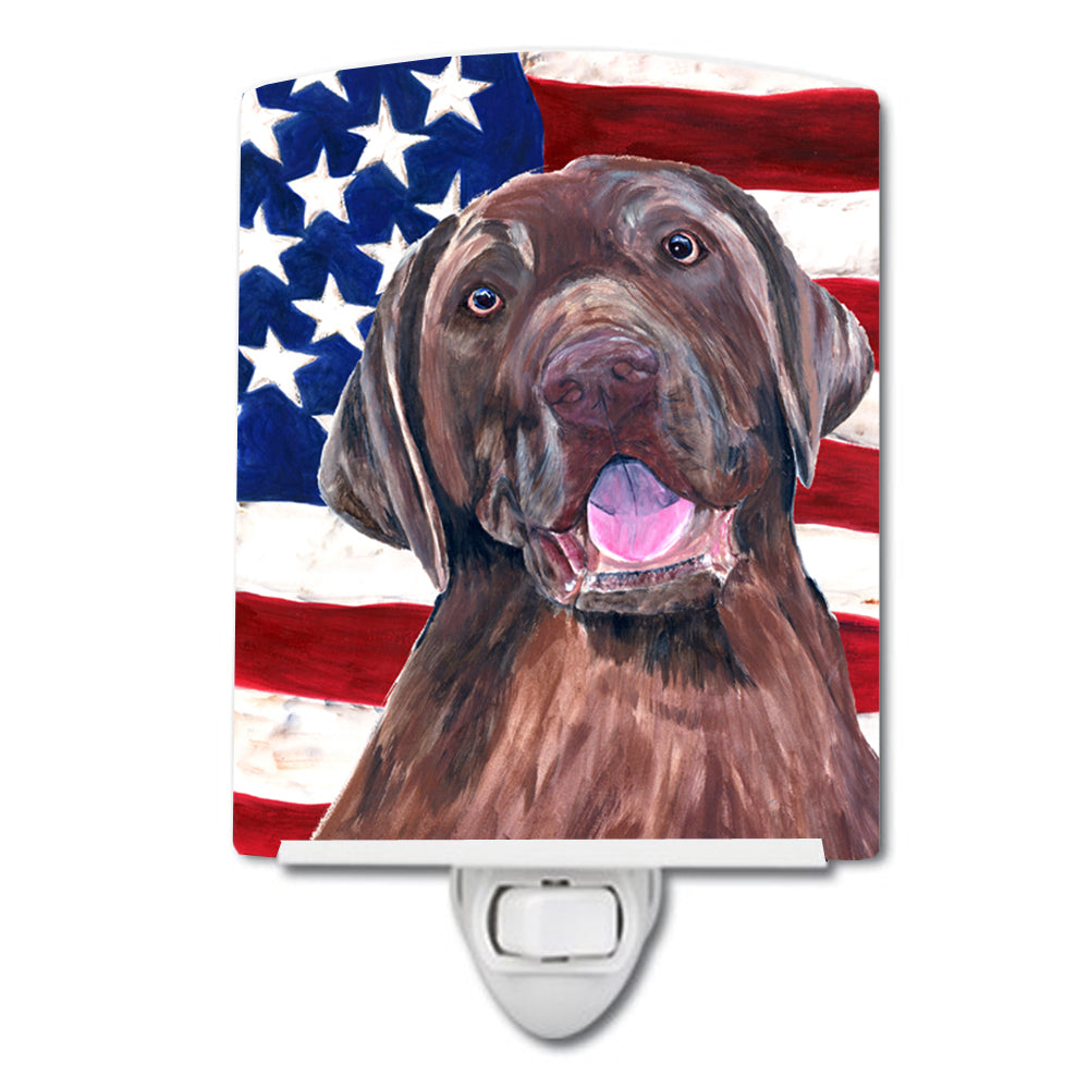 Buy this USA American Flag with Labrador Ceramic Night Light SC9029CNL
