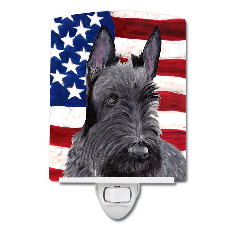 Buy this USA American Flag with Scottish Terrier Ceramic Night Light SC9032CNL