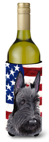 Buy this USA American Flag with Scottish Terrier Wine Bottle Beverage Insulator Beverage Insulator Hugger