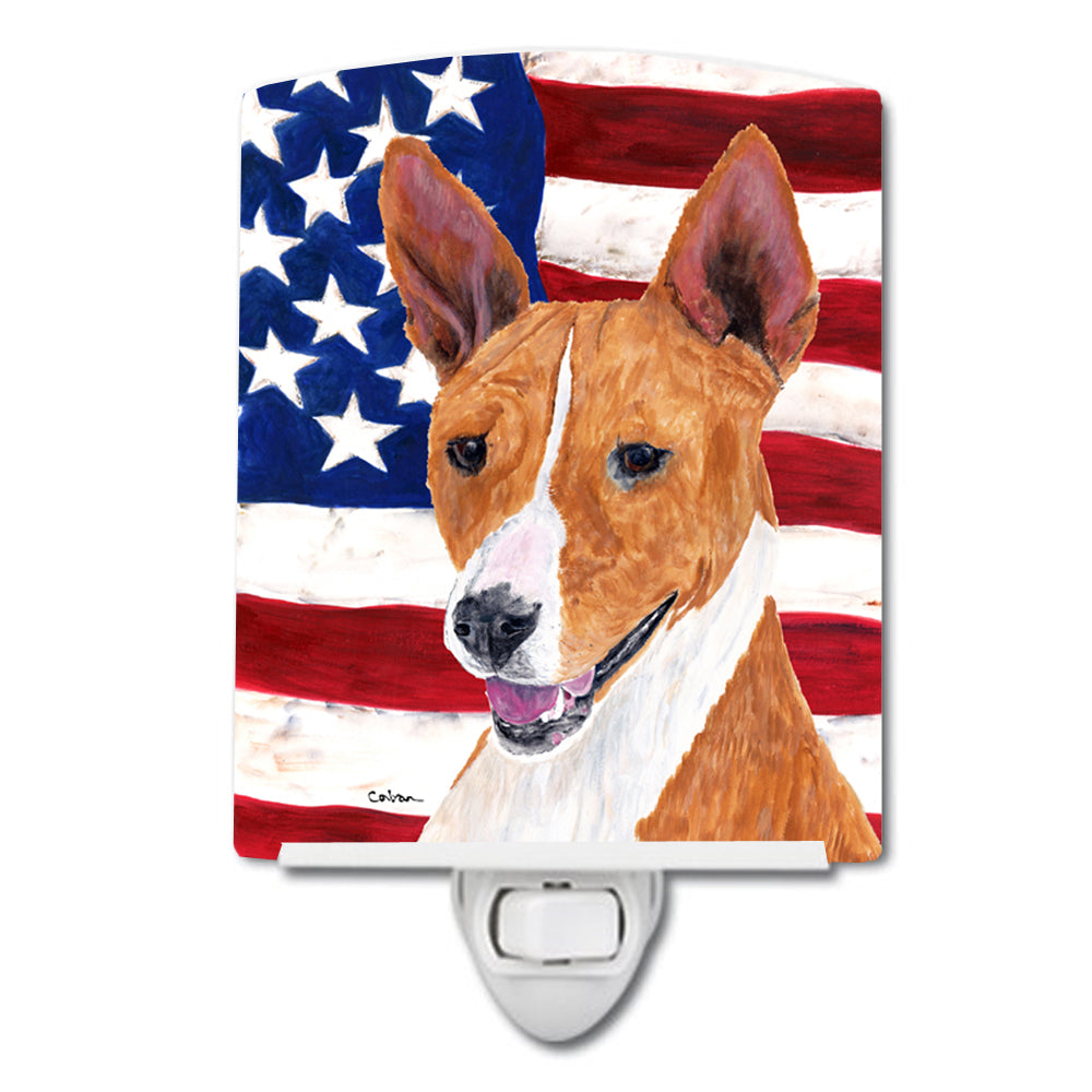 Buy this USA American Flag with Basenji Ceramic Night Light SC9033CNL