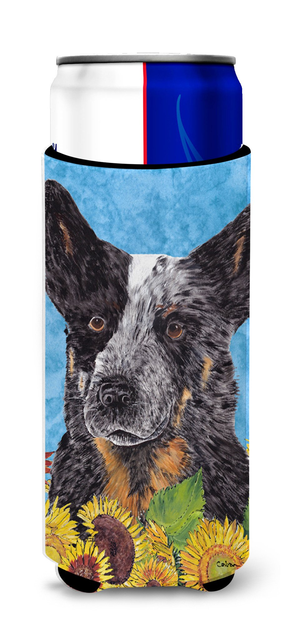 Australian Cattle Dog Ultra Beverage Insulators for slim cans SC9055MUK by Caroline's Treasures
