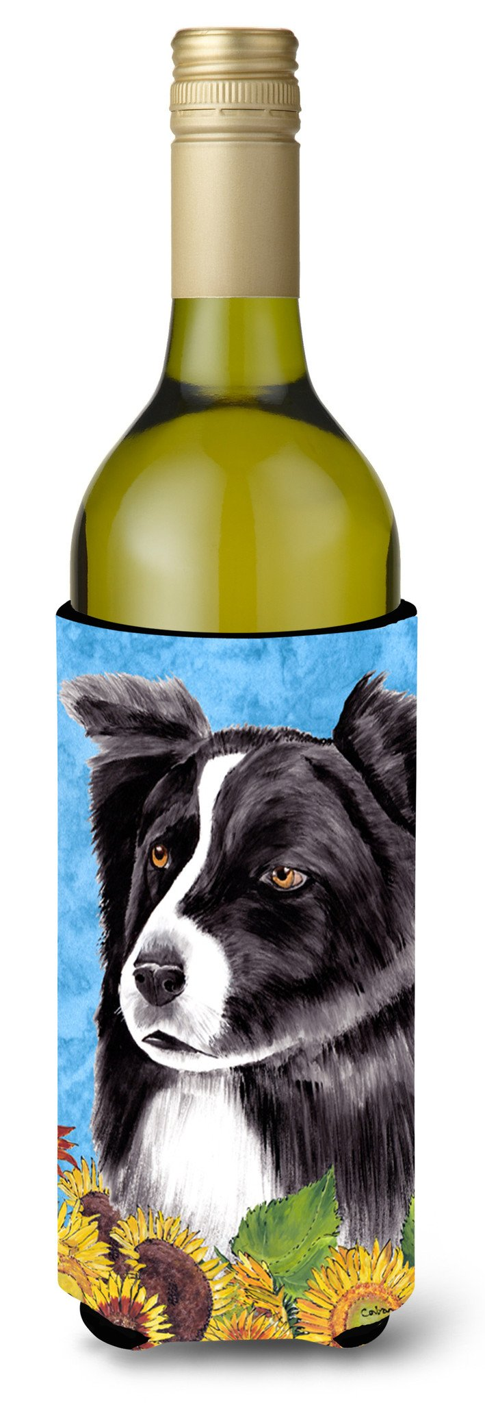 Border Collie Wine Bottle Beverage Insulator Beverage Insulator Hugger by Caroline's Treasures