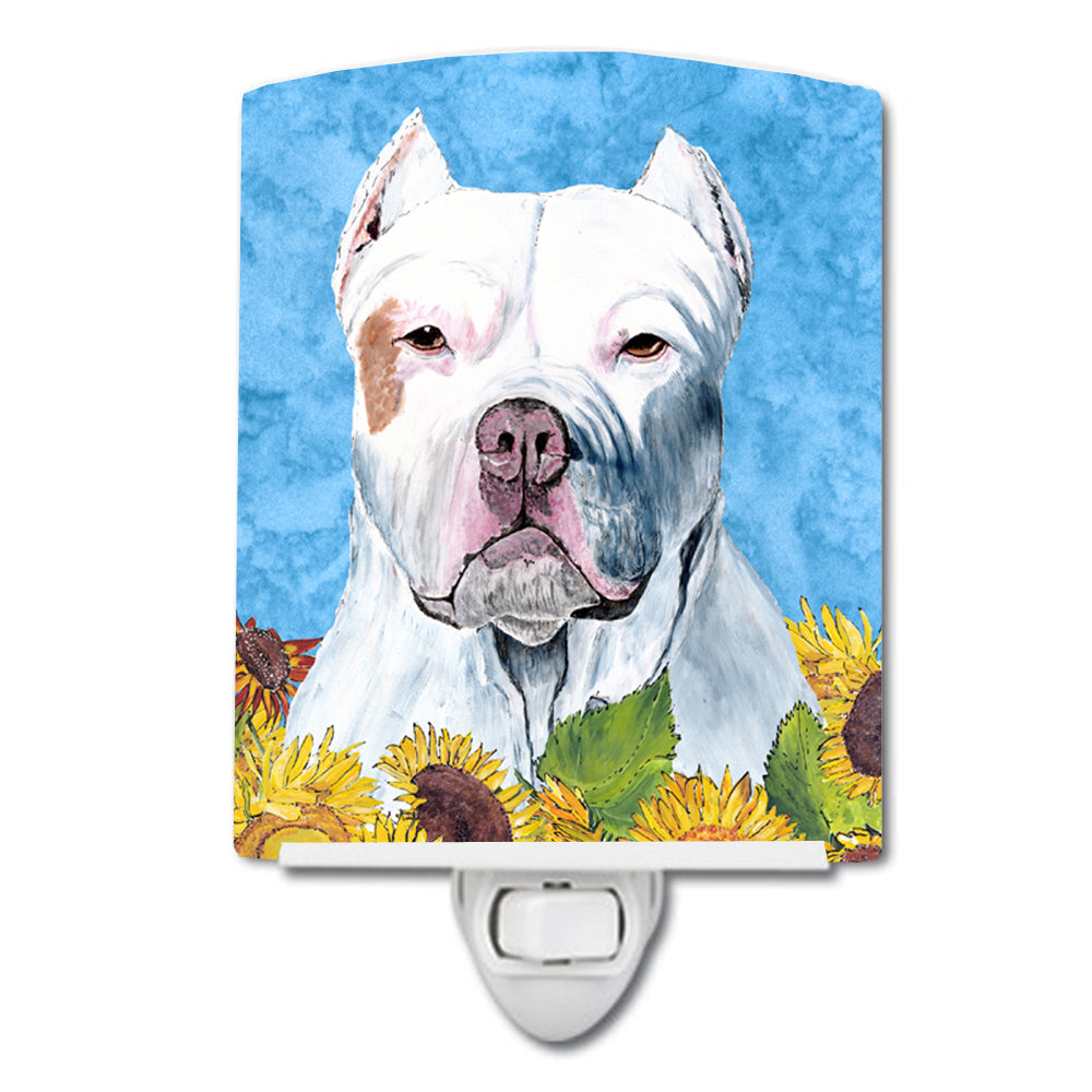 Buy this Pit Bull in Summer Flowers Ceramic Night Light SC9077CNL