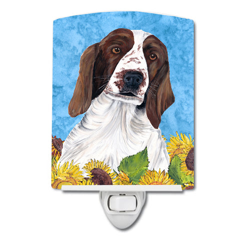 Buy this Welsh Springer Spaniel in Summer Flowers Ceramic Night Light SC9078CNL