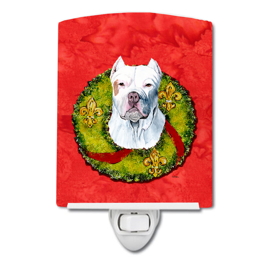 Buy this Pit Bull Christmas Wreath Ceramic Night Light SC9083CNL