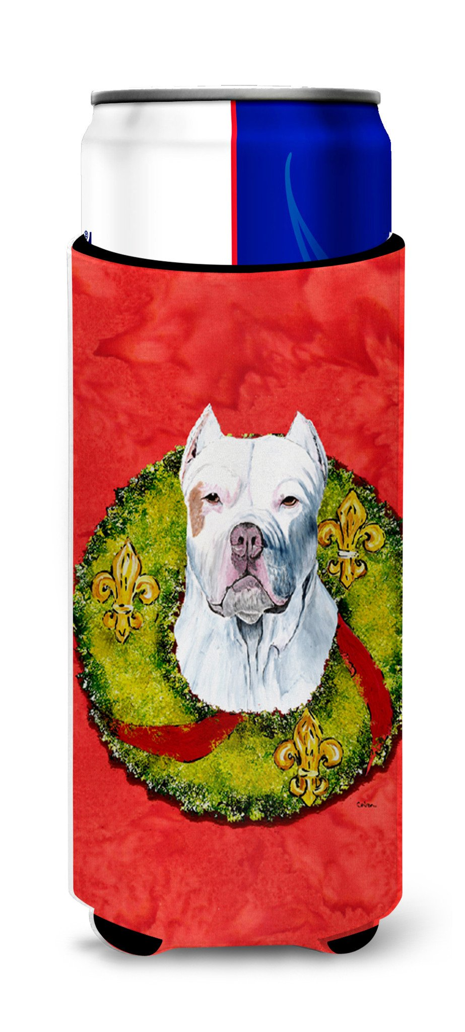 Pit Bull Ultra Beverage Insulators for slim cans SC9083MUK by Caroline's Treasures