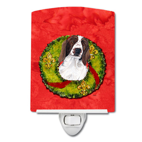 Buy this Welsh Springer Spaniel Christmas Wreath Ceramic Night Light SC9084CNL