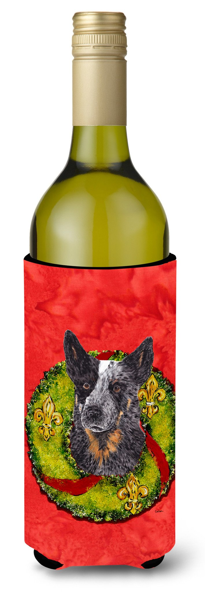 Australian Cattle Dog Wine Bottle Beverage Insulator Beverage Insulator Hugger SC9090LITERK by Caroline's Treasures