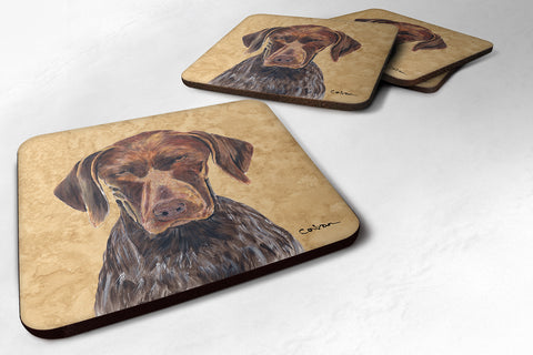 Buy this Set of 4 German Shorthaired Pointer Foam Coasters