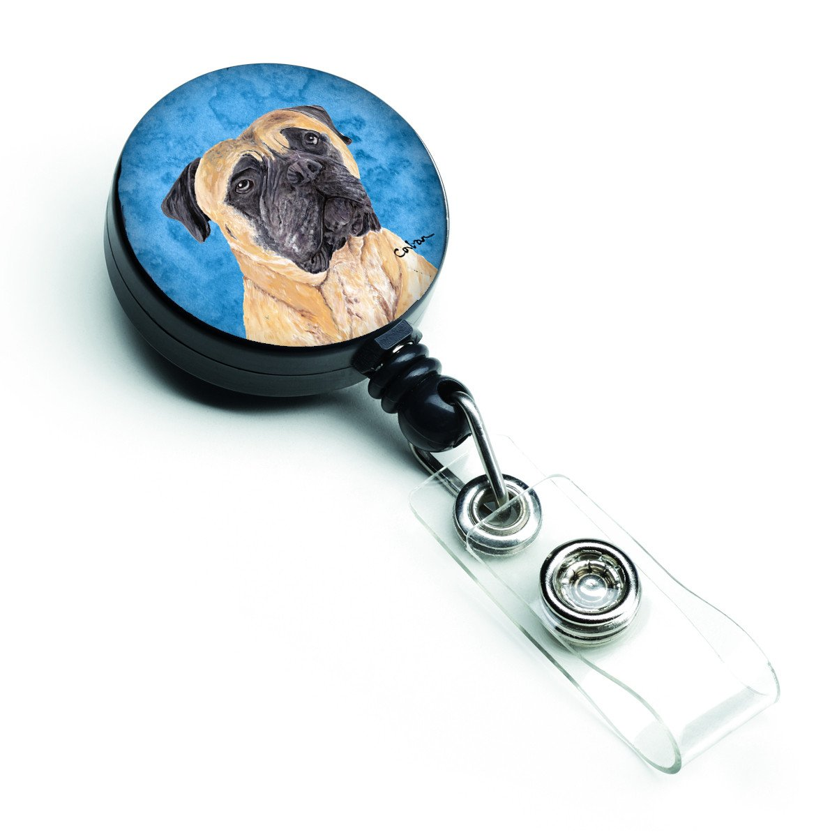 Mastiff Retractable Badge Reel or ID Holder with Clip by Caroline's Treasures