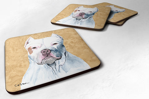 Buy this Set of 4 Pit Bull Foam Coasters