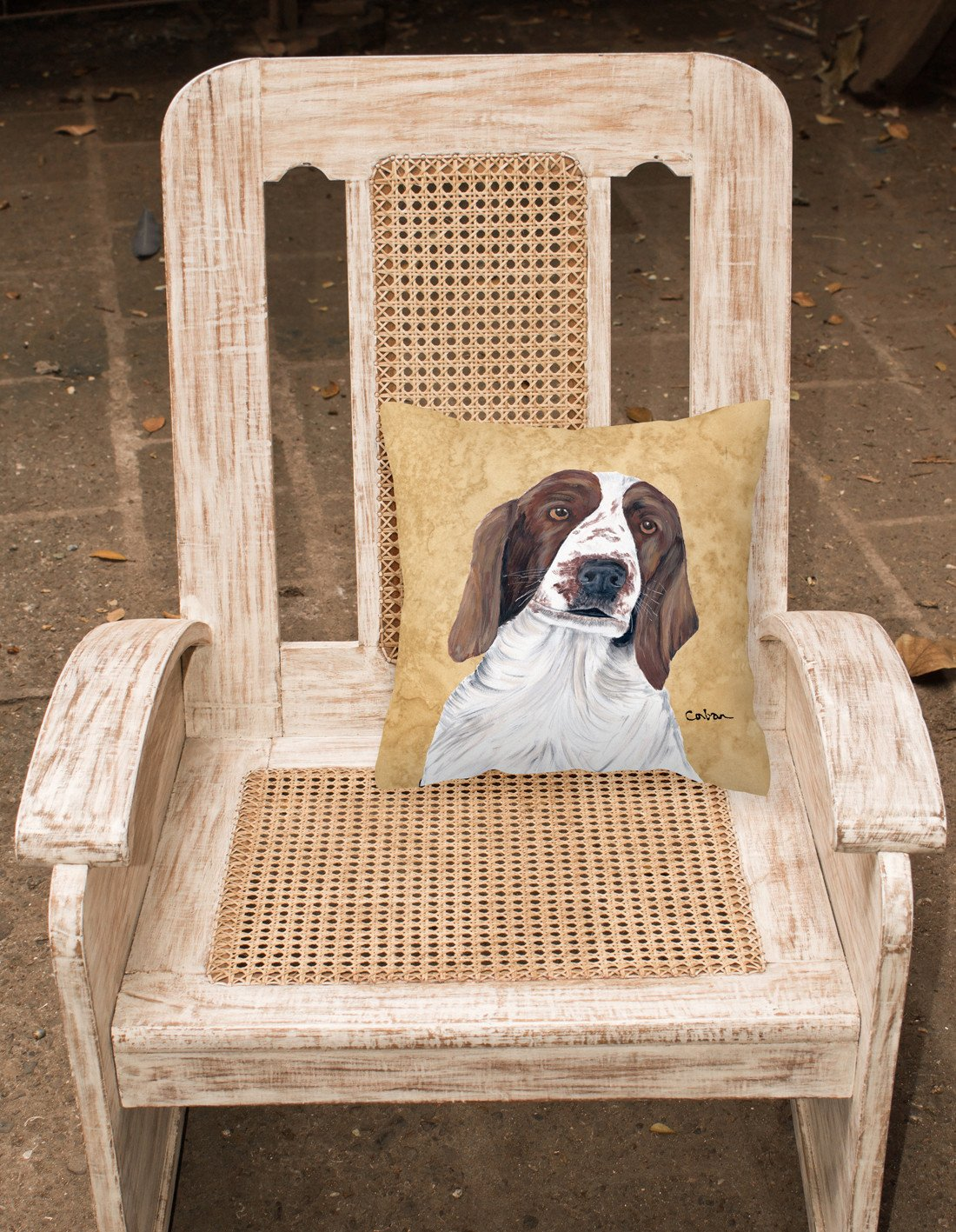 Springer Spaniel Decorative   Canvas Fabric Pillow by Caroline's Treasures