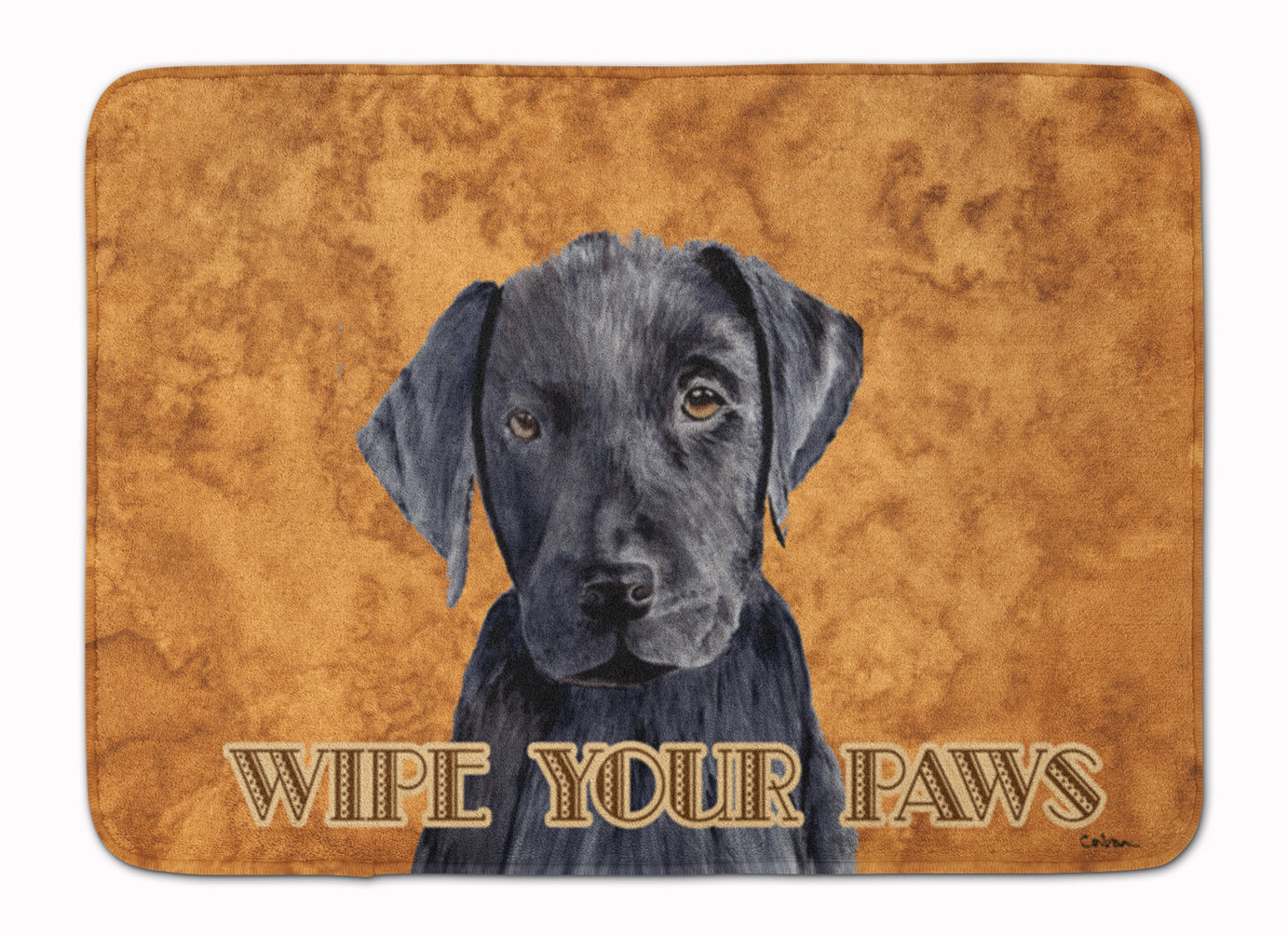 Labrador Wipe your Paws Machine Washable Memory Foam Mat SC9136RUG by Caroline's Treasures