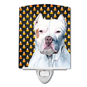 Buy this Pit Bull Candy Corn Halloween Portrait Ceramic Night Light SC9166CNL