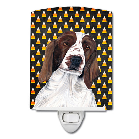 Buy this Welsh Springer Spaniel Candy Corn Halloween Portrait Ceramic Night Light SC9167CNL