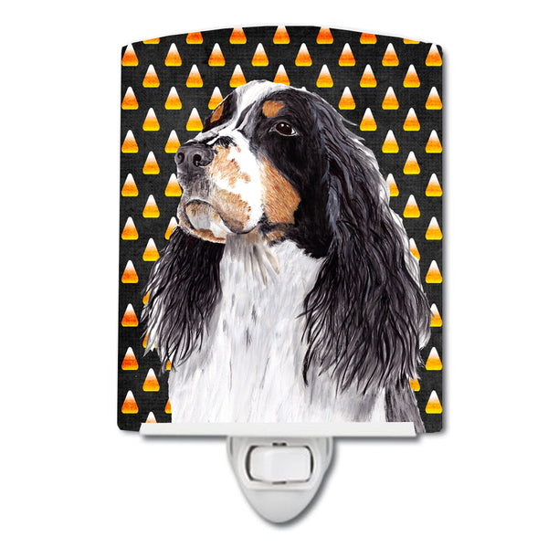 Springer Spaniel Candy Corn Halloween Portrait Ceramic