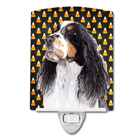 Buy this Springer Spaniel Candy Corn Halloween Portrait Ceramic Night Light SC9172CNL
