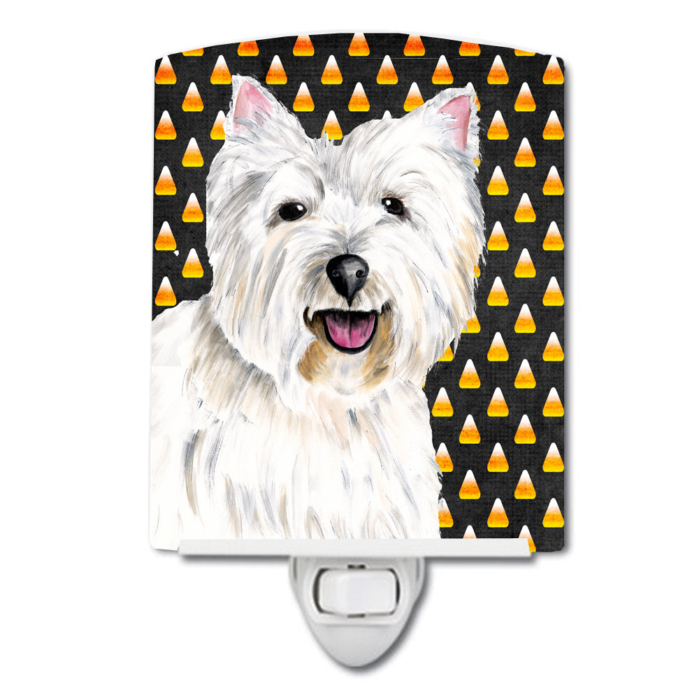 Westie Candy Corn Halloween Portrait Ceramic Night Light SC9180CNL by Caroline's Treasures