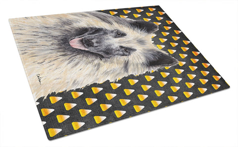 Buy this Belgian Tervuren Candy Corn Halloween Portrait Glass Cutting Board Large
