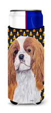 Cavalier Spaniel Blenheim Candy Corn Halloween Portrait Ultra Beverage Insulators for slim cans SC9194MUK by Caroline's Treasures