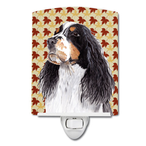 Buy this Springer Spaniel Fall Leaves Portrait Ceramic Night Light SC9202CNL